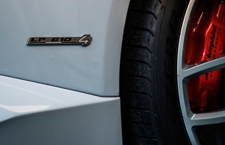 Lamborghini Huracan LP610-4 badge up close
