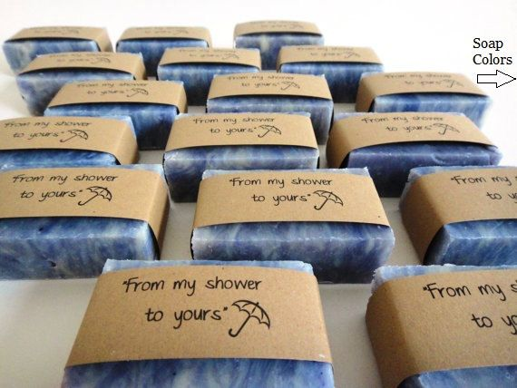 How cute are these for shower favors?! Something your guests can actually use! Except switch out the bars for maybe some nice body washes