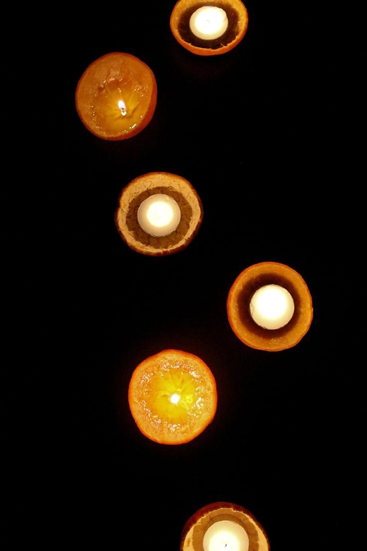 Orange Peel Candles - delia creates