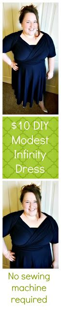 Anxiously Engaging: How to Make a Modest Infinity Dress for under $10: No Sewing Machine Required