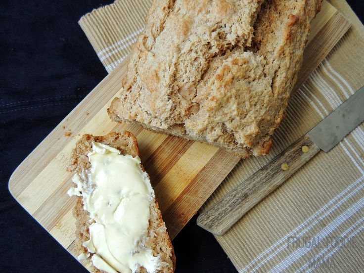 Try Homemade Peanut Butter Beer Bread with Bud Light or Michelob Ultra! via thefrugalfoodiemama.com