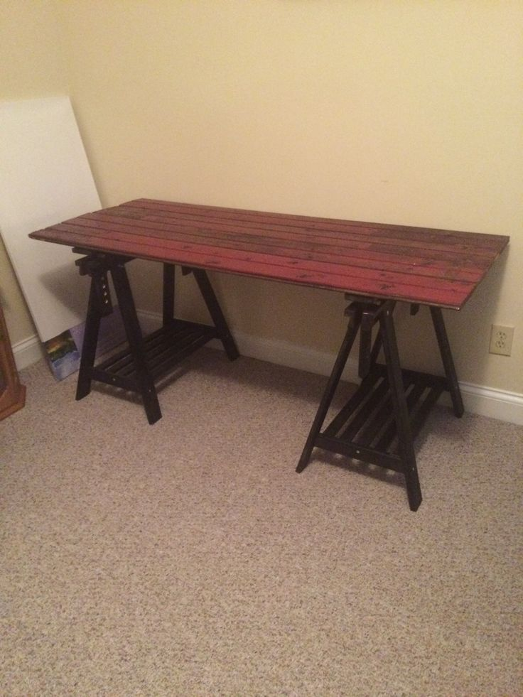 Grant made this with wood from my familys barn and ikea
