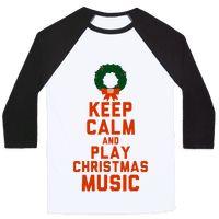 Keep Calm and Play Christmas Music Baseball