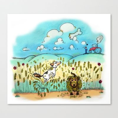 Mr Badger & Little Stitch Stretched Canvas by Mr Badger & Little Stitch - $85.00