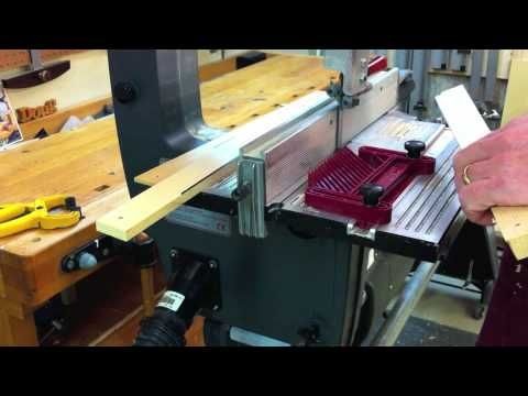 Shopsmith bandsaw. How to resaw, rip by Doug Reid - YouTube