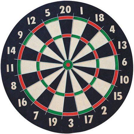 Franklin Sports 18 inch Pro Wire Bristle Dartboard, Multicolor