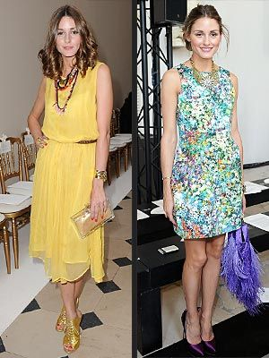 She's a socialite and former reality starlet with a phone full of designer's numbers. But Olivia Palermo has taken a decidedly wallet-friendly approach to dressing lately, donning store-bought looks while sitting front row at Paris Fashion Week. On Monday, the former City star grabbed a seat at the Giambattista Valli show wearing a bright yellow midi dress by Topshop (available only in the U.K.). Dressing it up with sandals, necklaces and perfect curls, Palermo looked cute and couture…