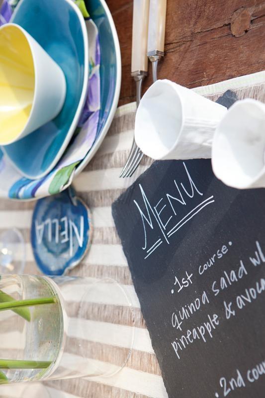 Cute chalkboard menus!