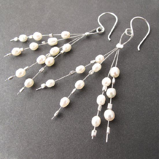Learn to make these easy cute beaded earrings using pearls, crystals, or the beads of your choice!