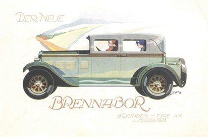 Brennabor 6-Cylinder Type AK (1928): Advertising Art by Bernd Reuters