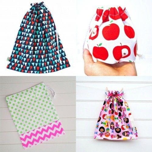 Handmade Kids | Back to School – Drawstring bags | http://www.handmadekids.com.au