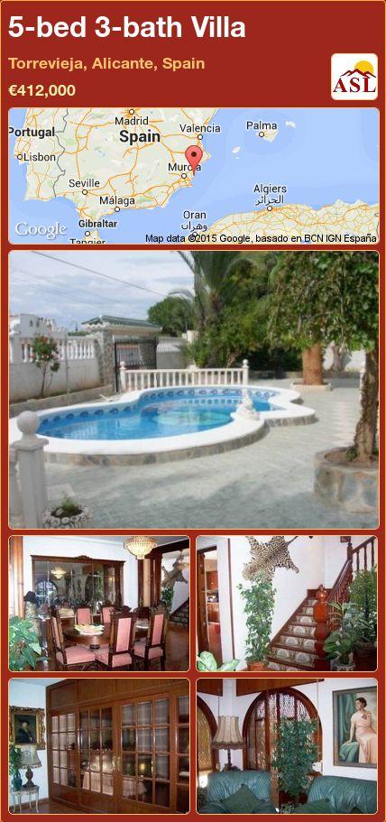 5-bed 3-bath Villa in Torrevieja, Alicante, Spain ►€412,000 #PropertyForSaleInSpain