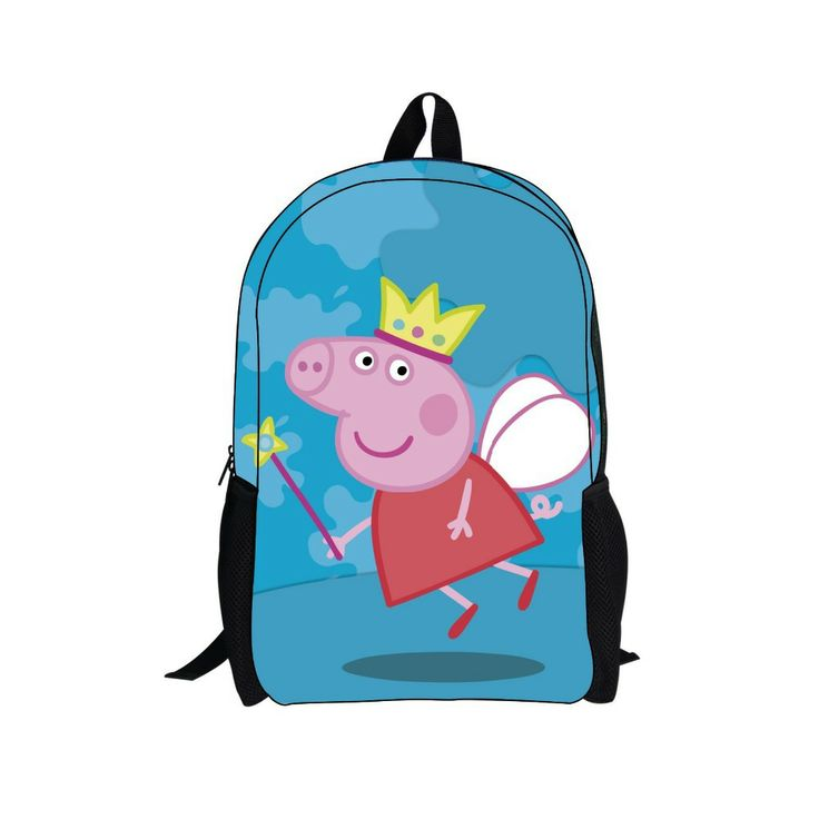 whosepet-children school bag peppa pig mochilas school kids peppa bolsa simples para escola george pig bag free shipping $24.99