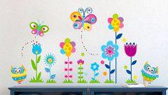 (22) Vinilos, Viniles, Decoracion Infantil, Niños, Niñas - Bs. 10.780,00 en Mercado Libre #vinilo #decorativo #infantil #mariposa #flor
