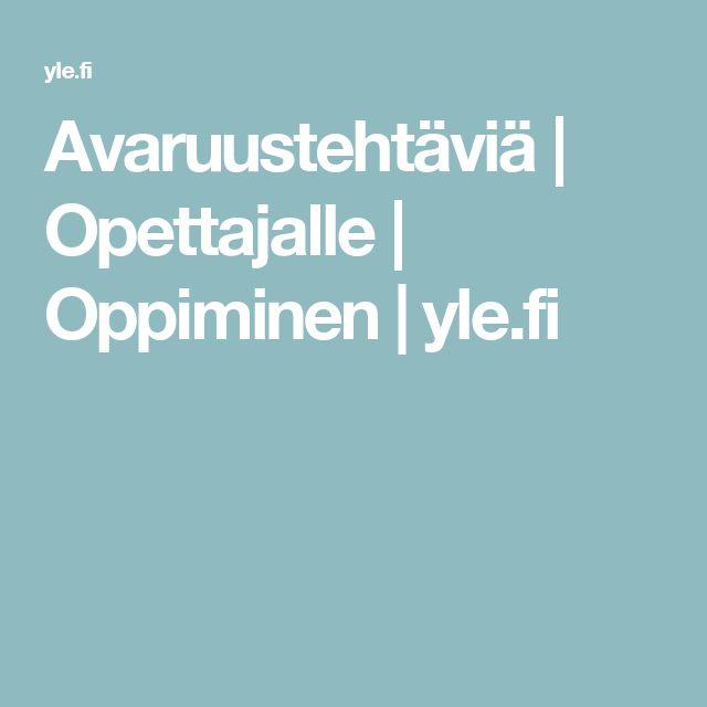 Avaruustehtäviä | Opettajalle | Oppiminen | yle.fi