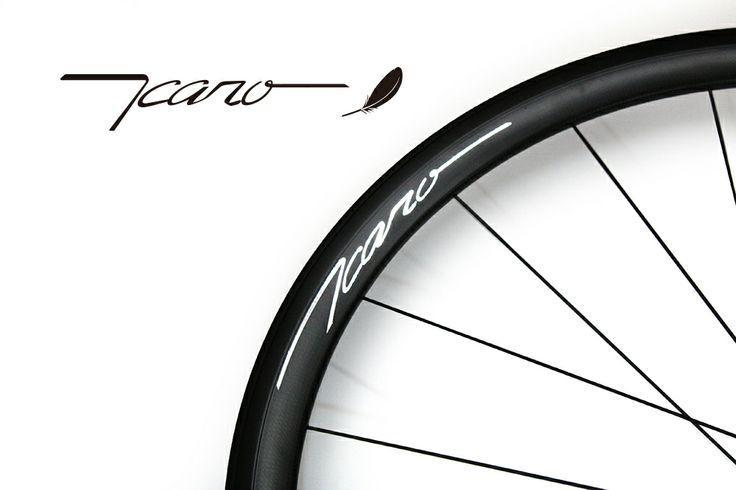 """Wheel brand """"ICARO"""". Riding feeling concept is speedy and smooth. ホイールブランド""""ICARO""""(イカロ) 乗り心地のコンセプトはスピーディそしてそして滑らか。"""