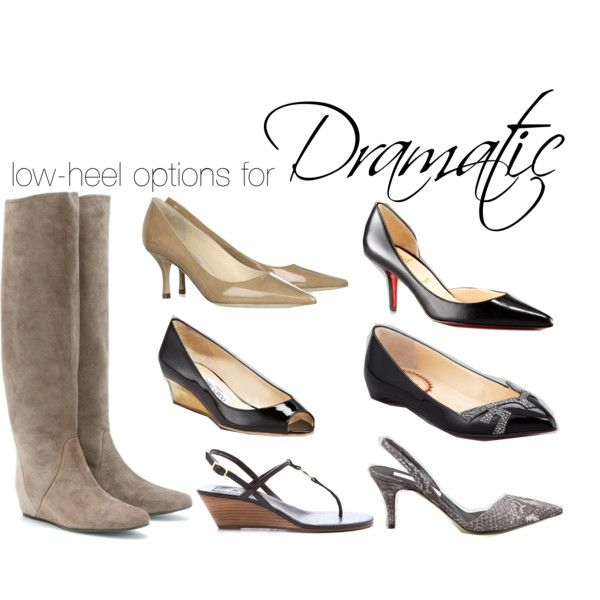 """""""low-heel options for Dramatic"""" by theluxejunkie on Polyvore"""