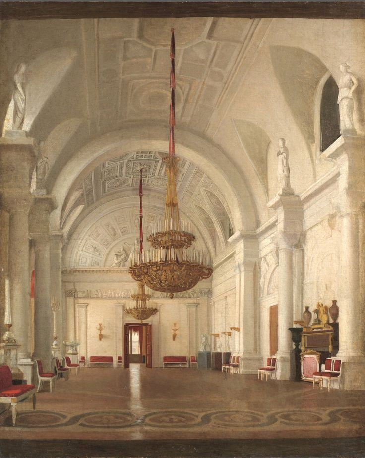 View of the White Hall of the Winter Palace, St Petersburg Zaryanko Sergei Konstantinovich. How does the representation of empty, ornamental spaces supposed to make the viewer feel?