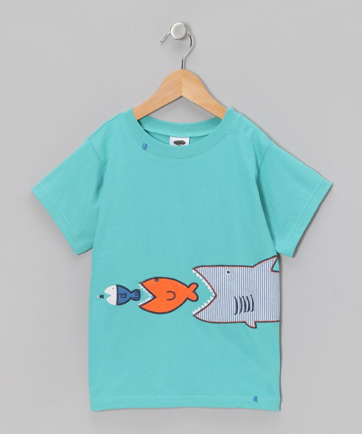 Light Blue Shark Tee - Boys