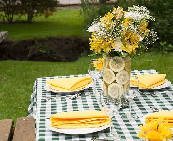Best picnic table centerpieces ideas on pinterest