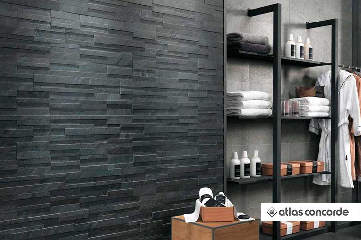 #TREK Ocean Black Brick 3D | #AtlasConcorde | #Tiles | #Ceramic