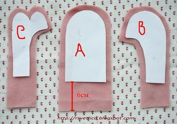 fleece mitten pattern | How to sew fleece mittens, fleece mittens pattern.  This is a different pattern than I've seen most places.