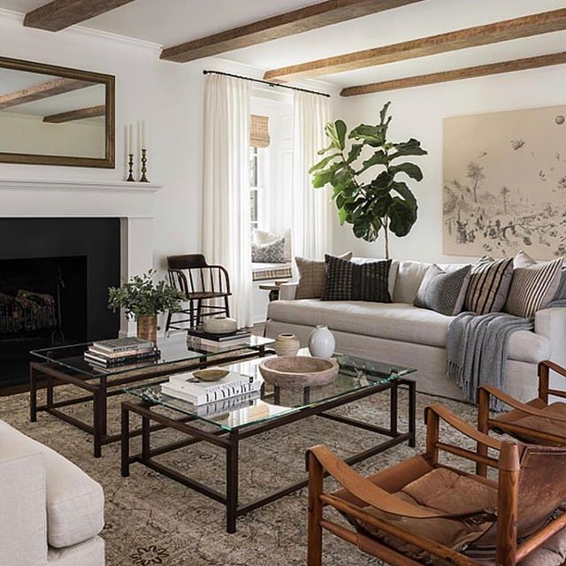Last We Have This Modern Country Space By Katiehodgesdesign With The Double The Details Coffee Table Ch Living Room Decor Neutral House Interior Home Decor