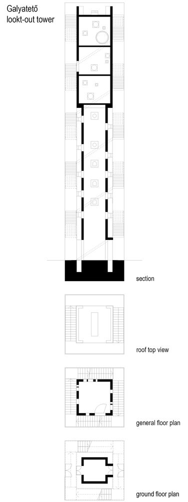 Lookout Tower at Galyateto,Floor Plan