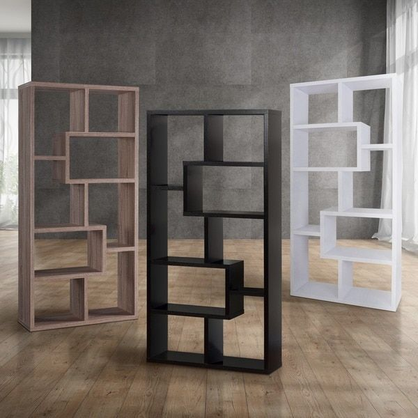Furniture of America Verena Contoured Leveled Display Cabinet