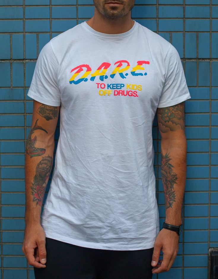 Usual Suspect D.A.R.E. Tee White
