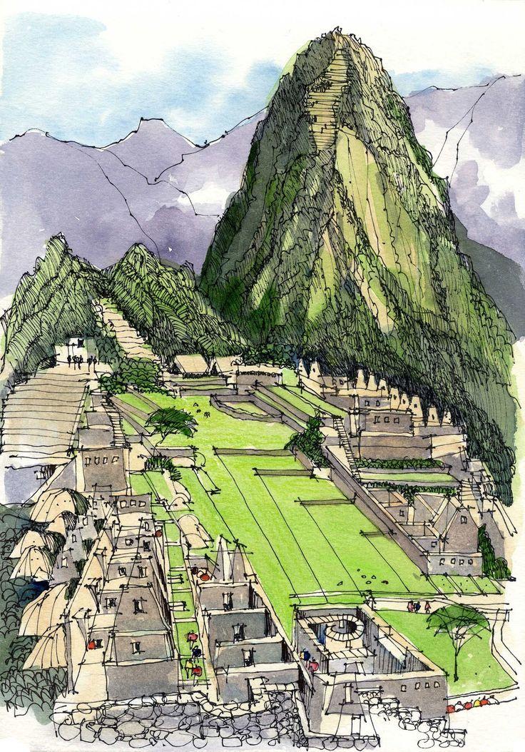 Urban Sketchers: Machu Picchu - James Richards
