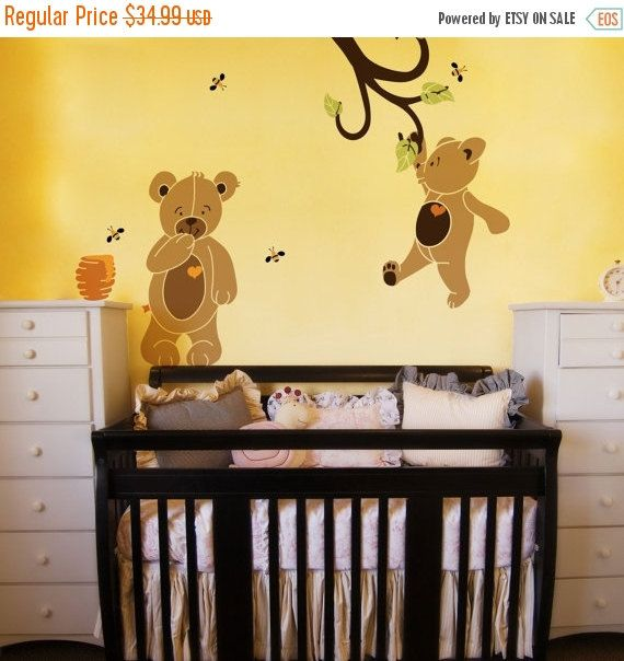 ON SALE Teddy Bear Wall Stencils for Painting by MyWallStencils