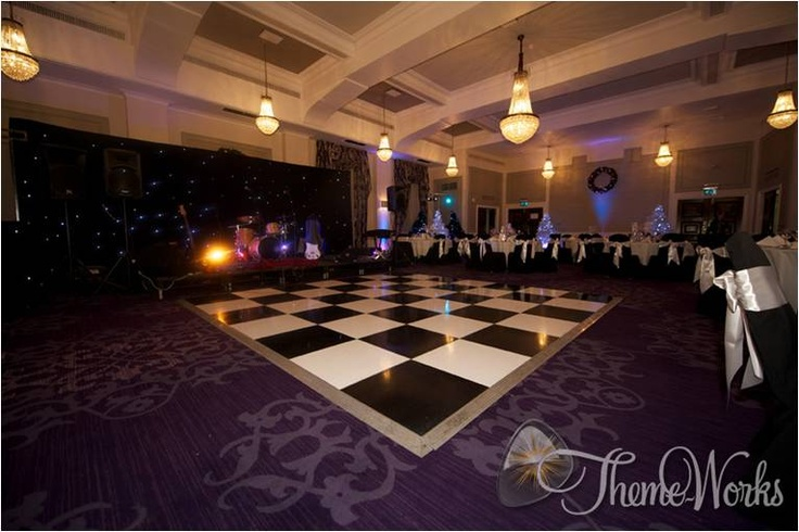 A dance floor is a must and keeping to vintage tradition nothing beats a black and white dance ...