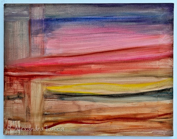 """Weave"" - Original Abstract Painting by AlexandraLucca on Etsy, $150.00"