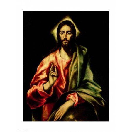 Christ Blessing Canvas Art - El Greco (24 x 36)