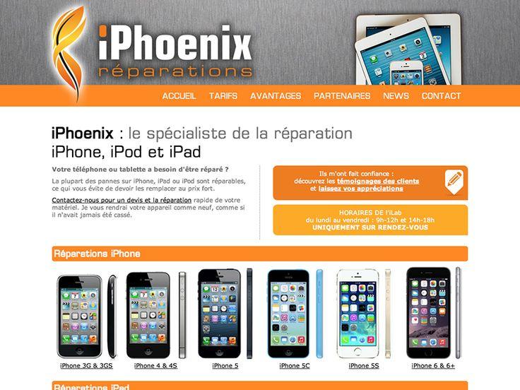 IPHOENIX Réparation iPhone, iPad et iPod - Le Pontet logo + design personnalisé Création : 01/2015 + Relook : 12/2015  http://iphoenix-reparation.com