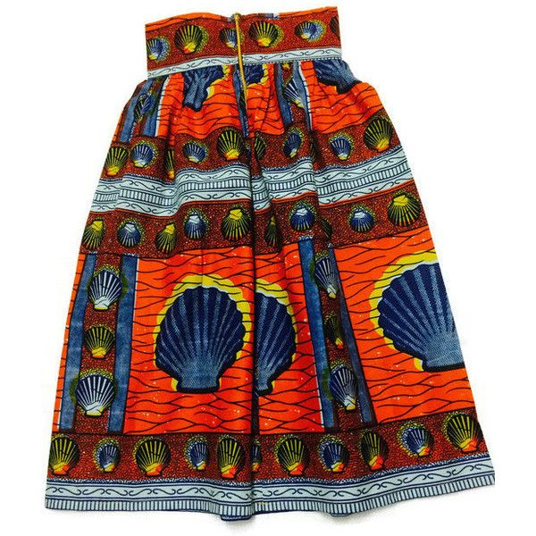African Print Petite Skirt Ankara Petite Maxi Skirt Kitenge Skirt High... ($54) ❤ liked on Polyvore featuring skirts, red full skirt, colorful maxi skirts, long skirts, maxi skirt and african skirts