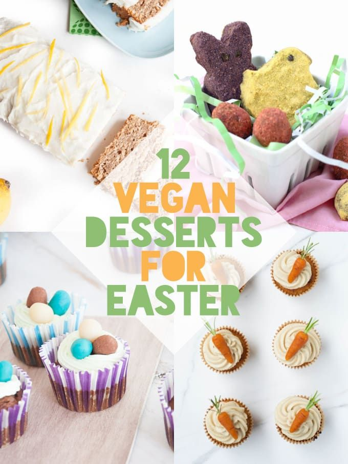 12 Vegan Easter Dessert Recipes Elephantastic Vegan Easter Dessert Vegan Vegan Easter Recipes Vegan Easter