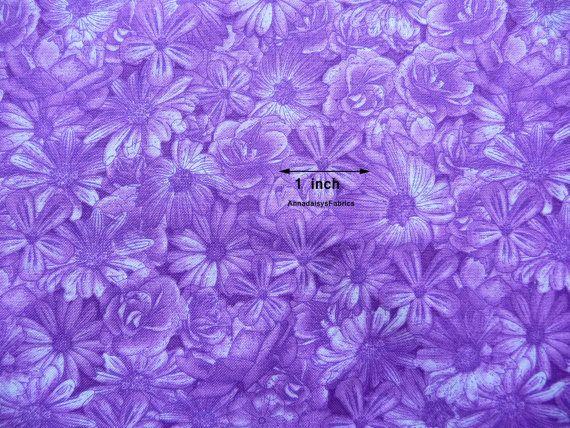 Purple Daisy Fabric RJR Spring Symphony 1819 Dan Morris