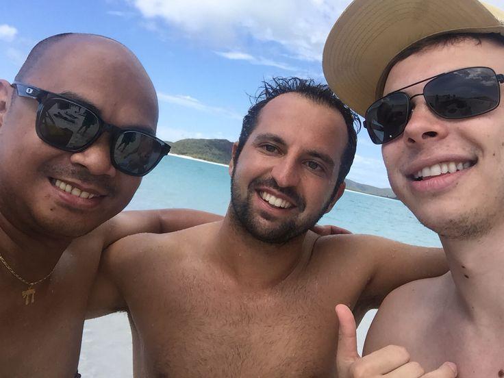Thomas, Florian and I at Whitsundays, Australia