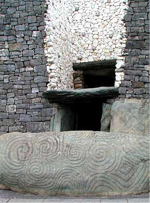 xxx ~ Newgrange Passage Grave, Ireland. The tomb becomes fully lit during the Winter Solstice.