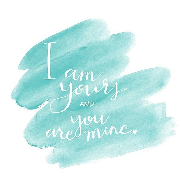 I am yours modern verse und h�nde