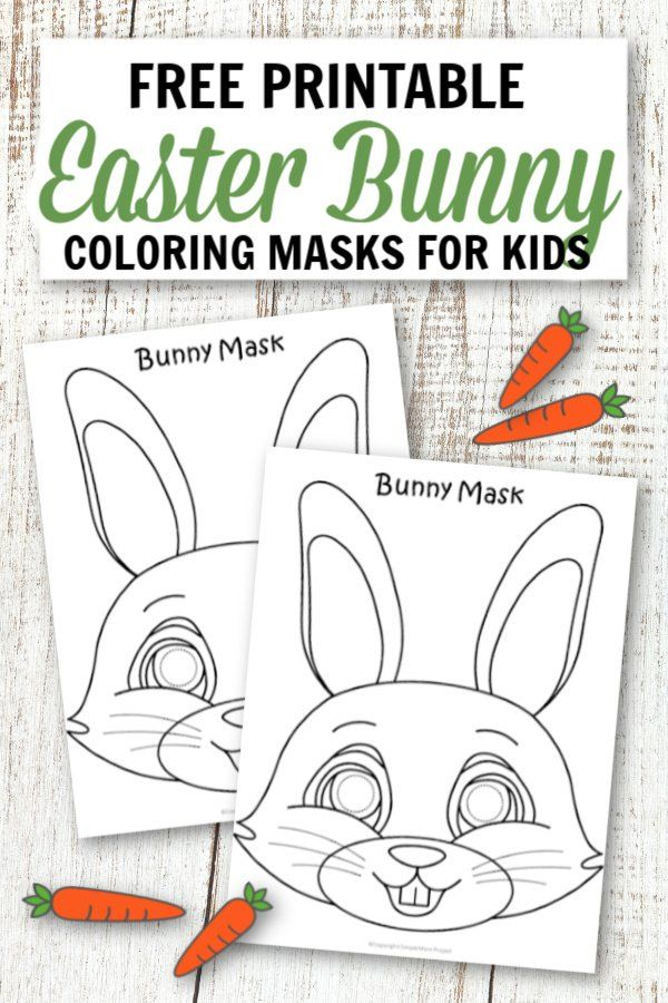 Free Printable Easter Bunny Mask Template Easter Coloring Pages