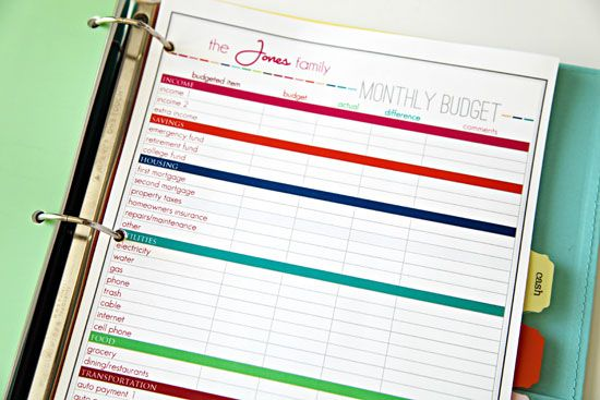 This budget template is so much prettier than my Excel one. Maybe my creative arts pastor husband could help me make one. ;-)