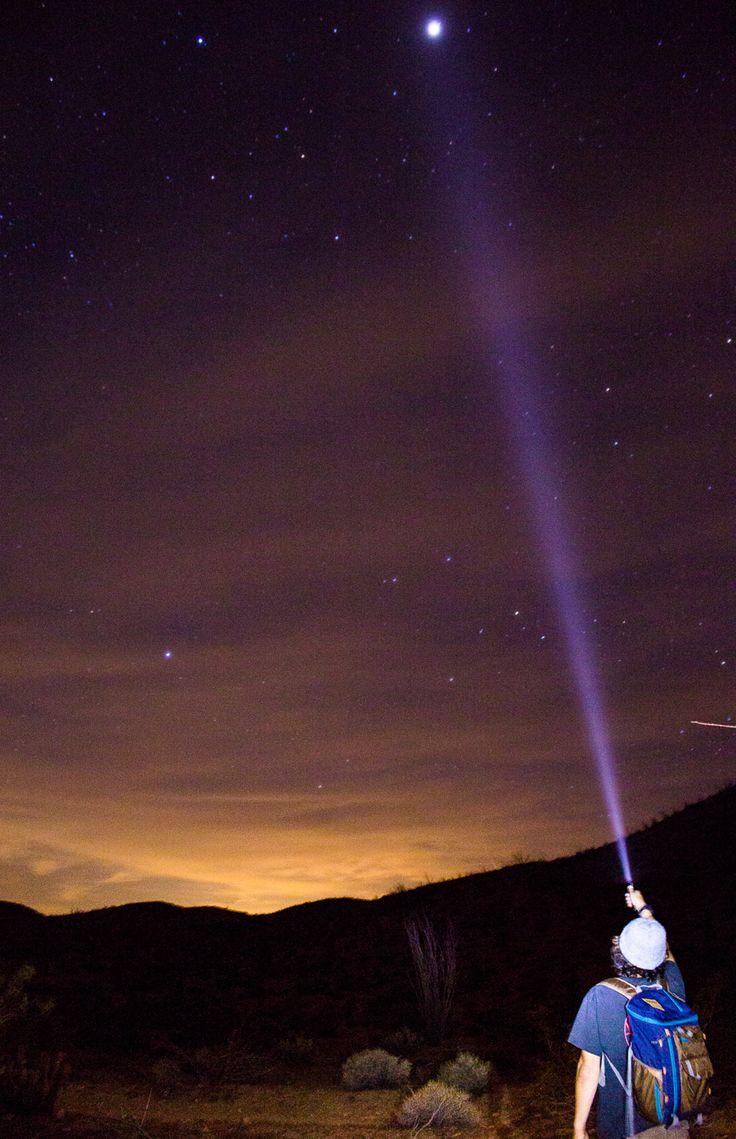 Flash lights in the desert