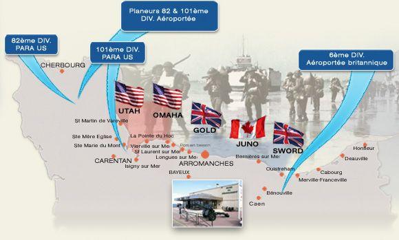 Le débarquement - Musée du débarquement - Site majeur de la Bataille de Normandie