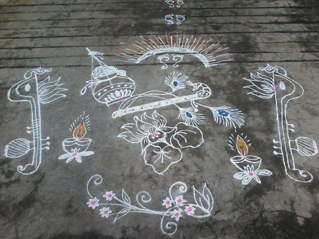 Krishnaastami rangoli
