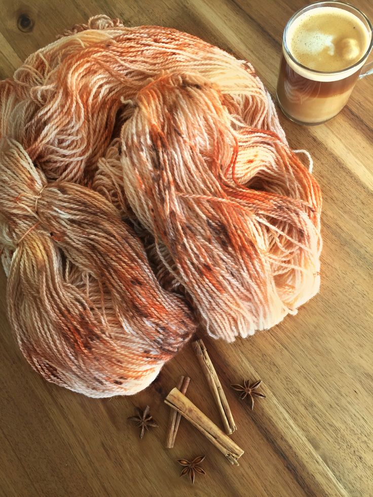 That wonderful autumn mood with a yarn colourway inspired by a delicious pumpkin spiced latte, the perfect drink while you knit your cozy autumn socks  www.fjordfibres.etsy.com