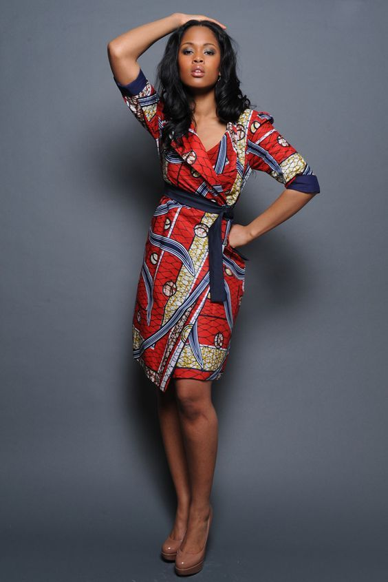 Pretty Vlisco Coat Dress                                                                                                                                                      Plus