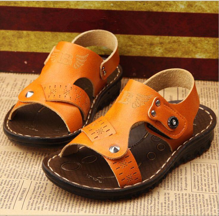 <b>Free shipping</b> kids sandals! <b>2015</b> summer <b>new</b> boys leather sandals ...